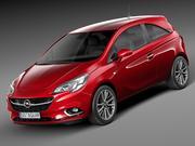 Opel Corsa 3-dörr 2015 3d model