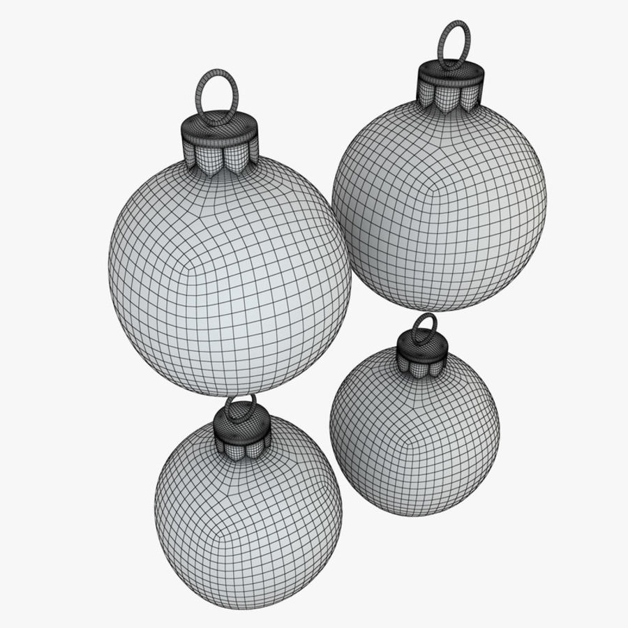 Christmas Bauble Decorations royalty-free 3d model - Preview no. 7
