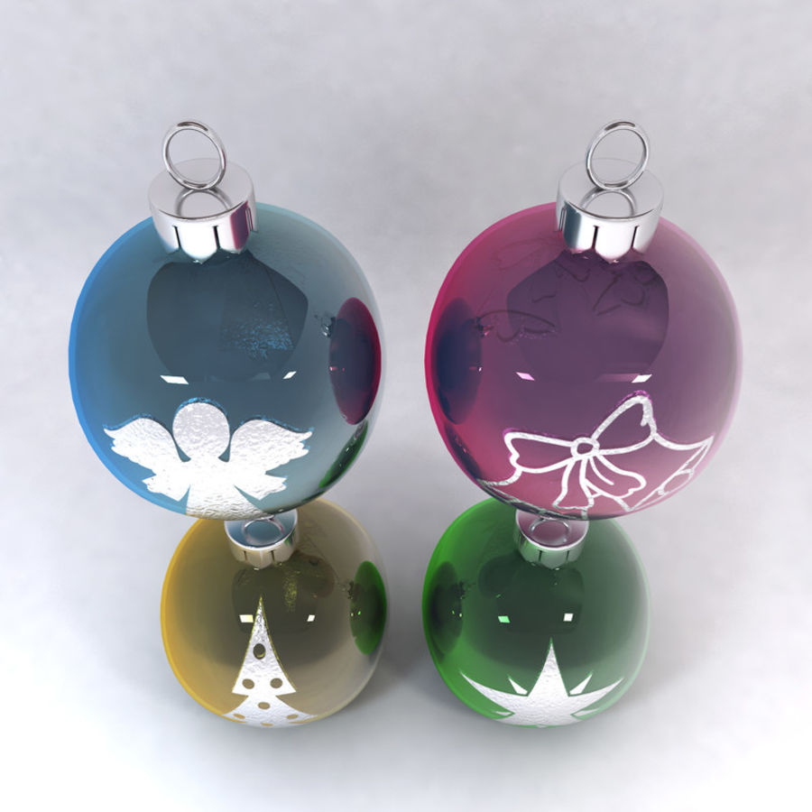Christmas Bauble Decorations royalty-free 3d model - Preview no. 5