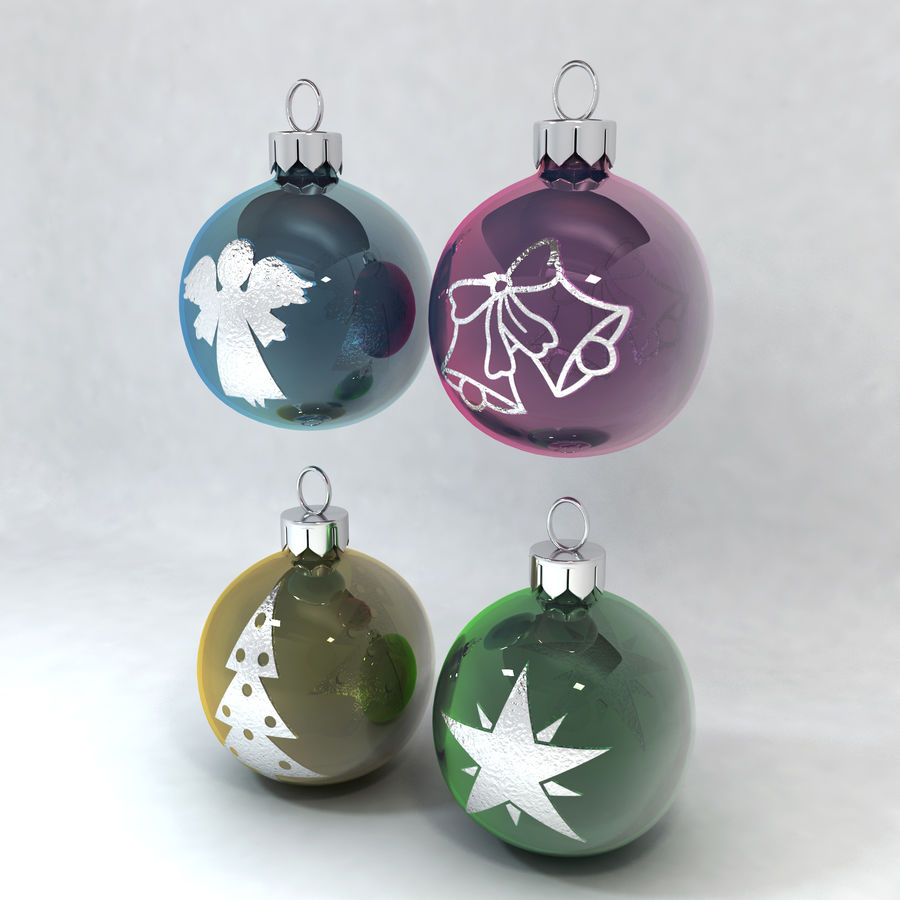 Christmas Bauble Decorations royalty-free 3d model - Preview no. 4