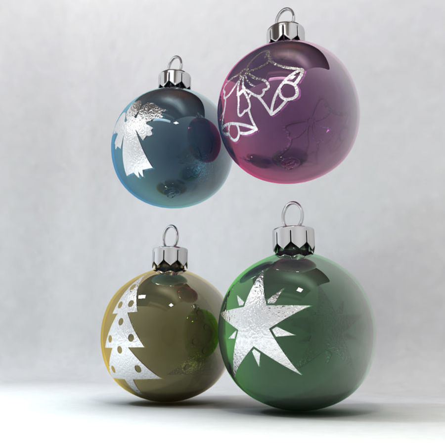 Christmas Bauble Decorations royalty-free 3d model - Preview no. 3