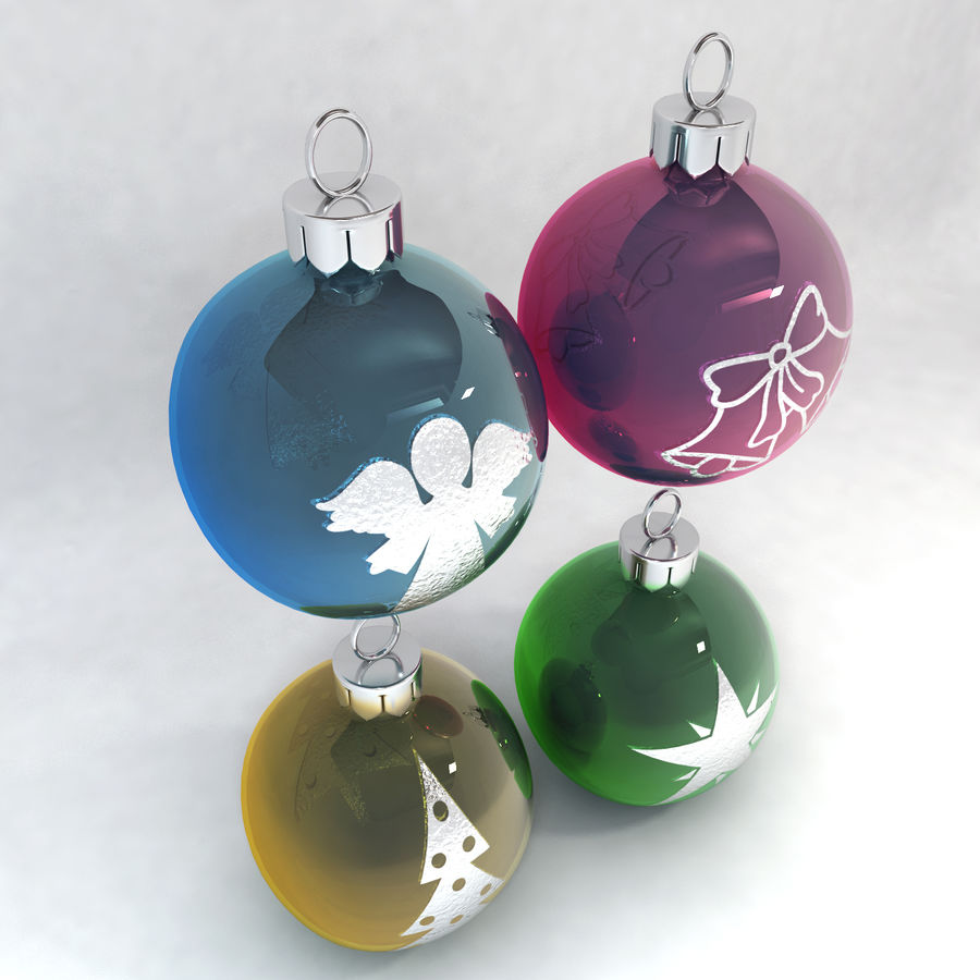 Christmas Bauble Decorations royalty-free 3d model - Preview no. 2