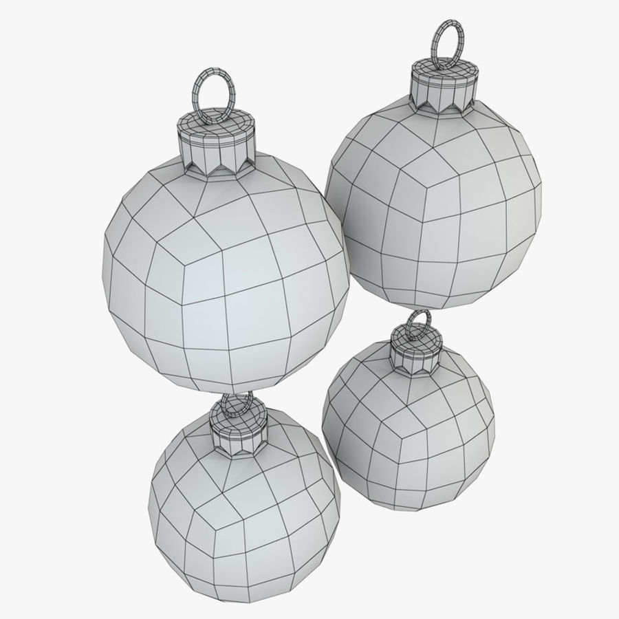 Christmas Bauble Decorations royalty-free 3d model - Preview no. 6