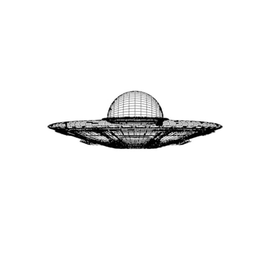 UFO royalty-free 3d model - Preview no. 4