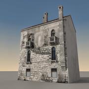 Italiaans gebouw 016 3d model