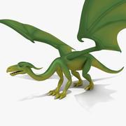 Мультфильм дракона просто 3d model