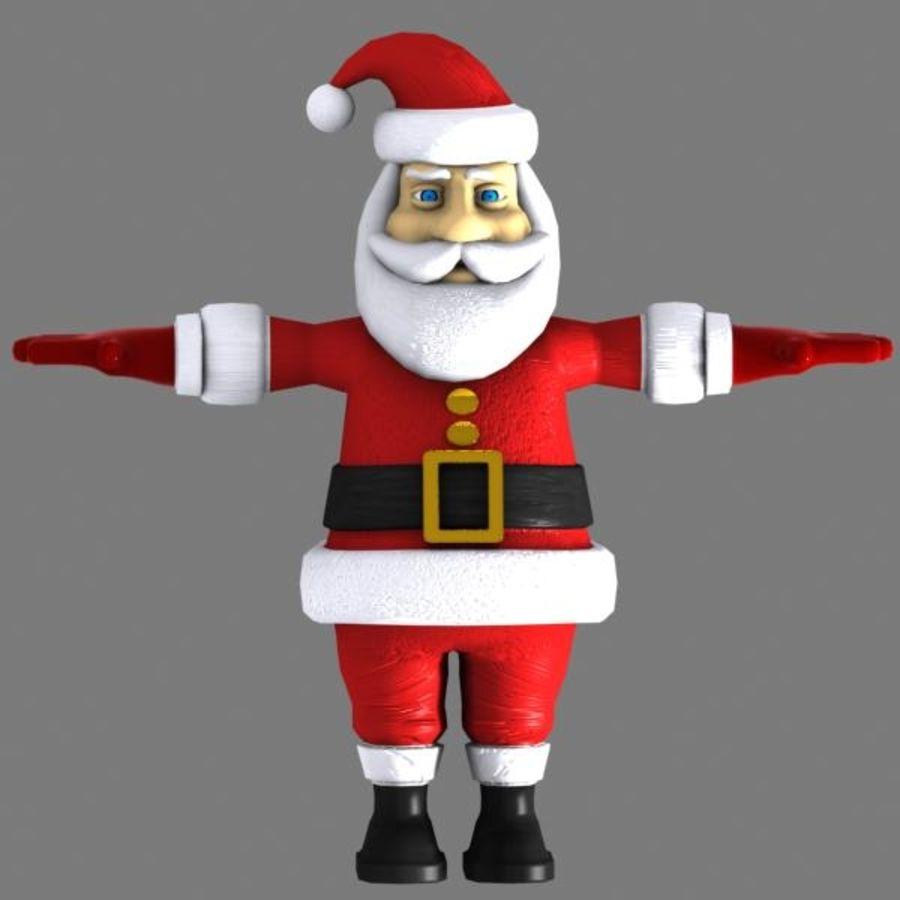 Cartoon Santa royalty-free 3d model - Preview no. 2