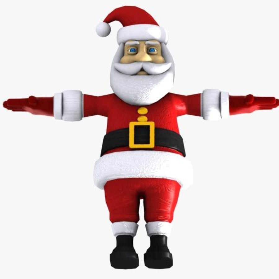 Cartoon Santa royalty-free 3d model - Preview no. 11