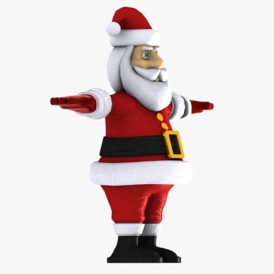Cartoon Santa royalty-free 3d model - Preview no. 10