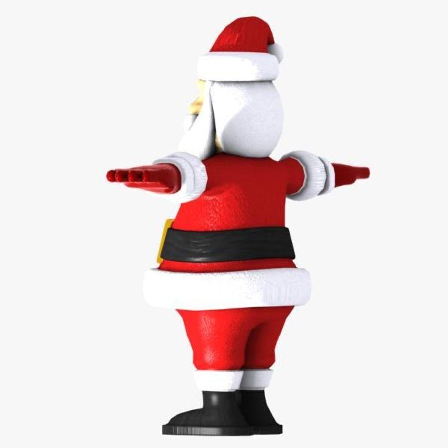 Cartoon Santa royalty-free 3d model - Preview no. 7