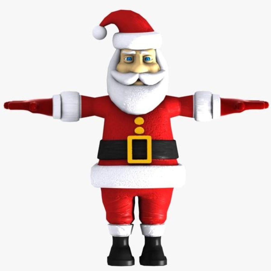 Cartoon Santa royalty-free 3d model - Preview no. 1