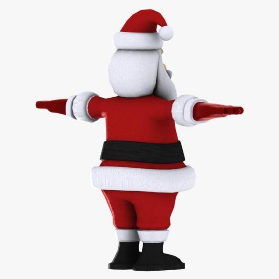 Cartoon Santa royalty-free 3d model - Preview no. 5