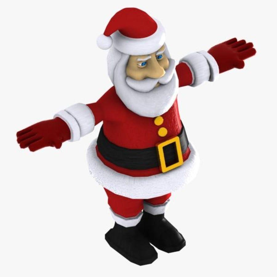Cartoon Santa royalty-free 3d model - Preview no. 3