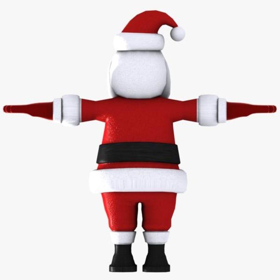 Cartoon Santa royalty-free 3d model - Preview no. 6