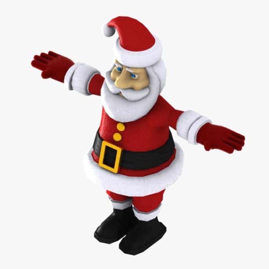 Cartoon Santa royalty-free 3d model - Preview no. 9