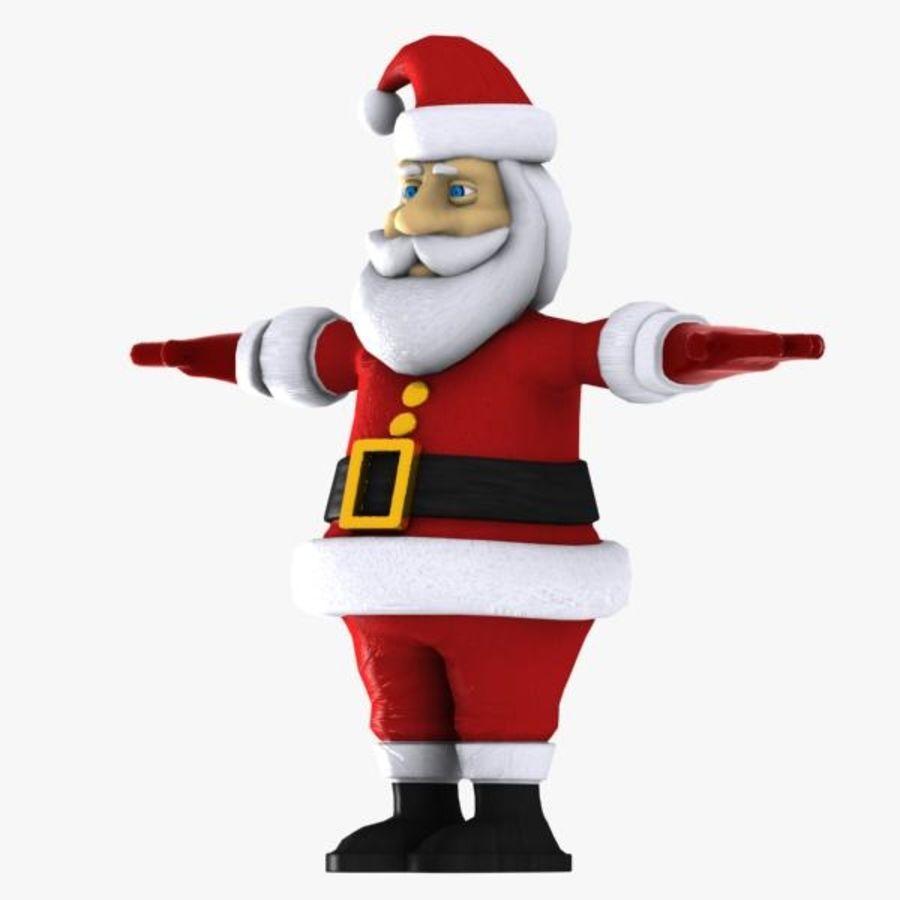 Cartoon Santa royalty-free 3d model - Preview no. 8