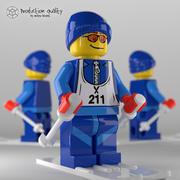 Lego Skier Figure V2.0 3d model