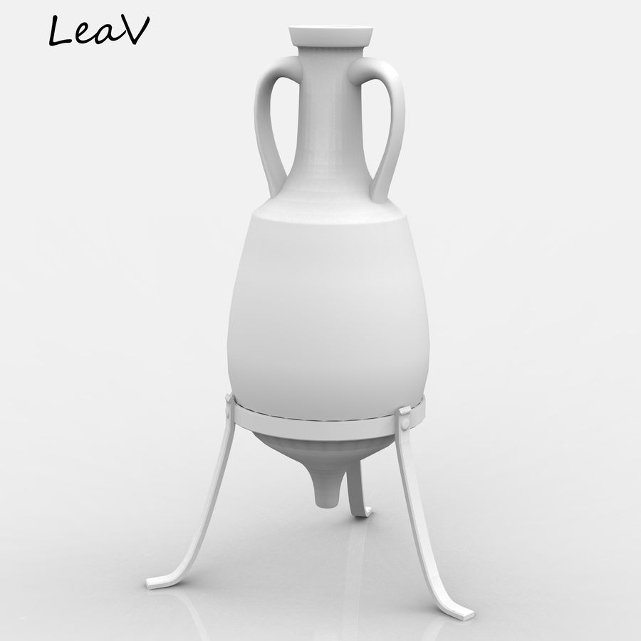 Amphora royalty-free 3d model - Preview no. 9