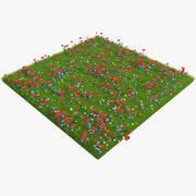 Kır çiçekleri 3d model
