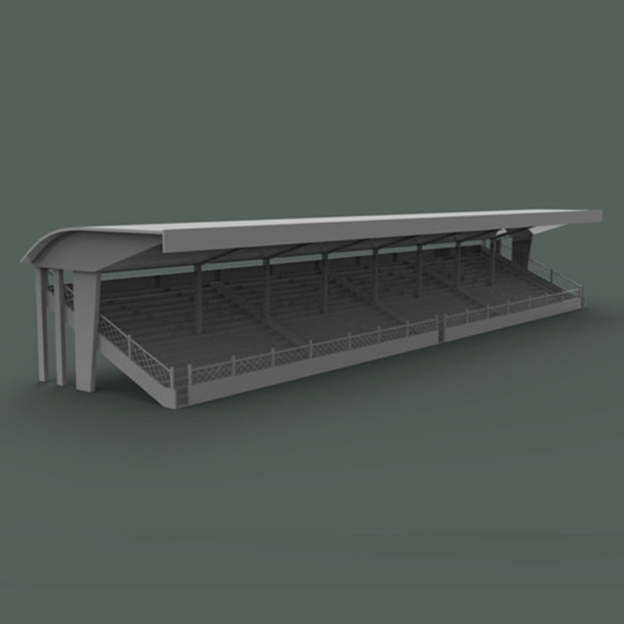 Bleachers royalty-free 3d model - Preview no. 2