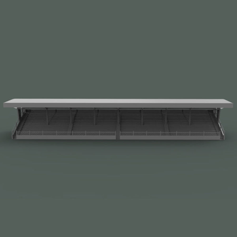 Bleachers royalty-free 3d model - Preview no. 5