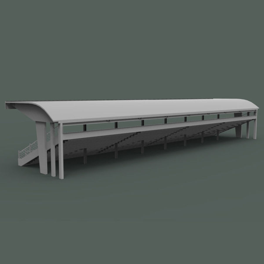 Bleachers royalty-free 3d model - Preview no. 4