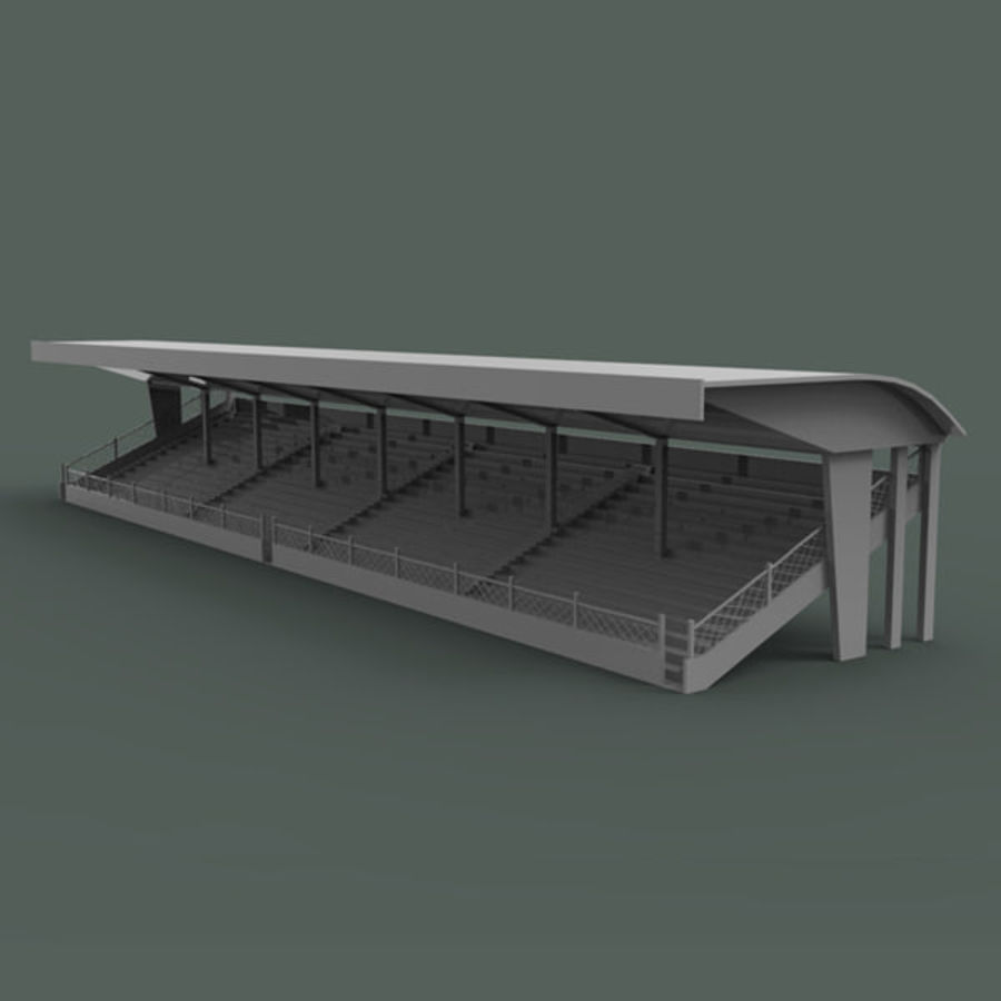 Bleachers royalty-free 3d model - Preview no. 1