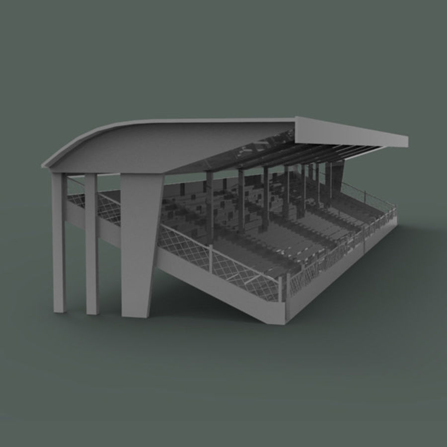 Bleachers royalty-free 3d model - Preview no. 3