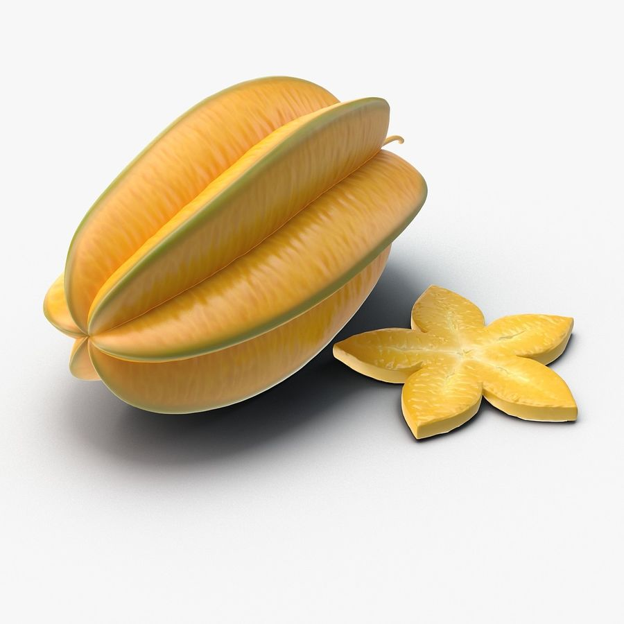 Star Fruit royalty-free 3d model - Preview no. 1