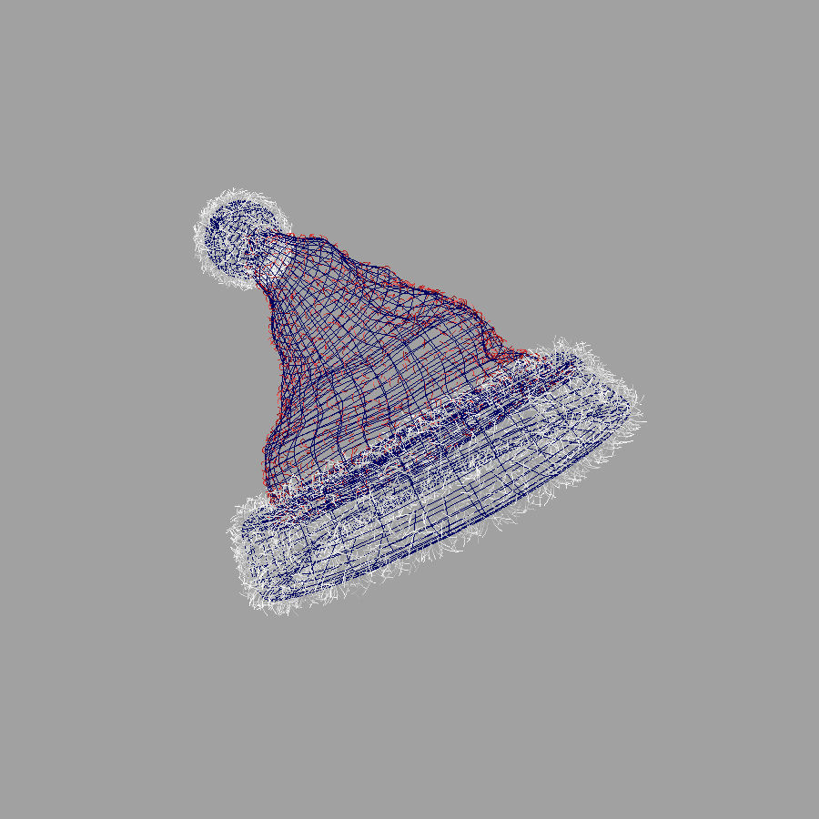 Christmas Hat royalty-free 3d model - Preview no. 5