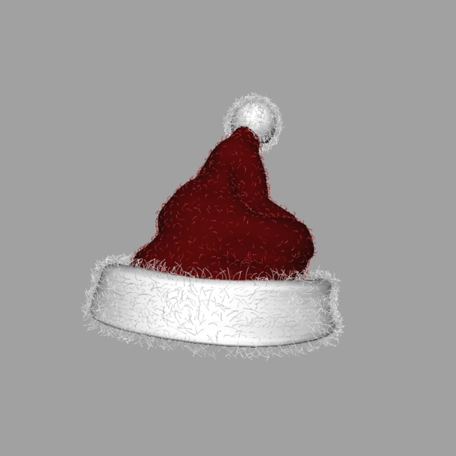 Christmas Hat royalty-free 3d model - Preview no. 3
