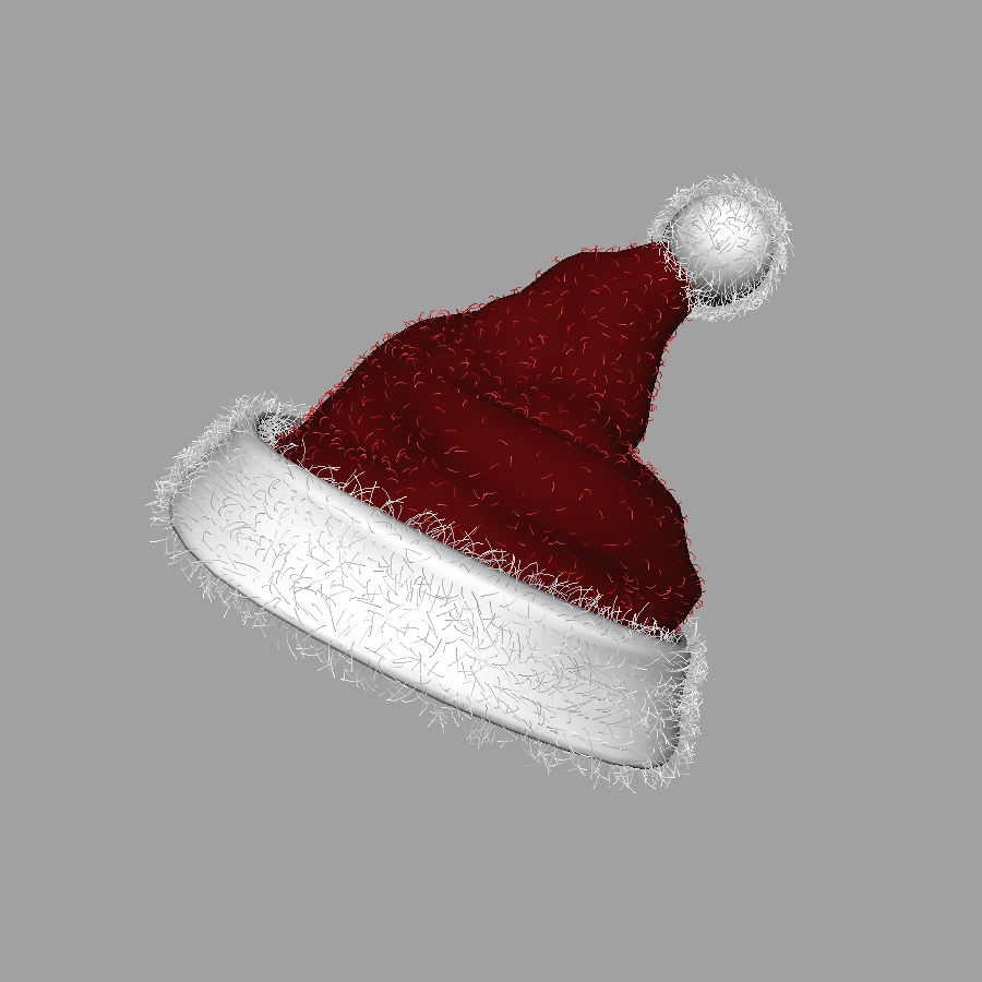Christmas Hat royalty-free 3d model - Preview no. 4