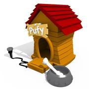 Cartoon Dog House 2 3d model
