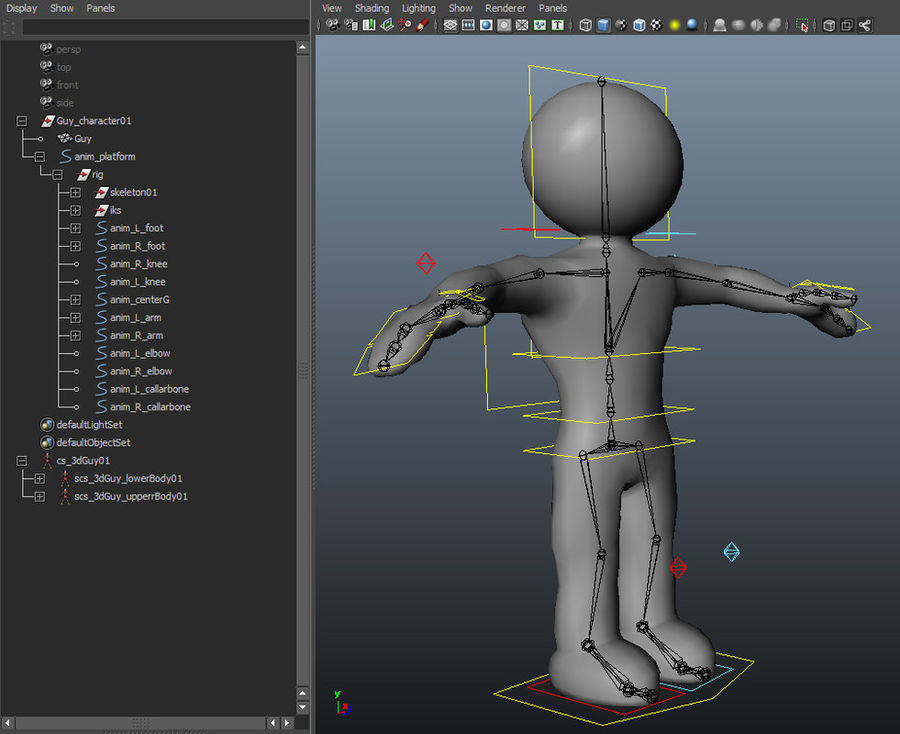 3D Simple Guy royalty-free 3d model - Preview no. 4