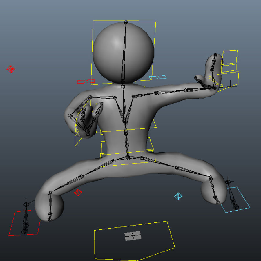 3D Simple Guy royalty-free 3d model - Preview no. 6