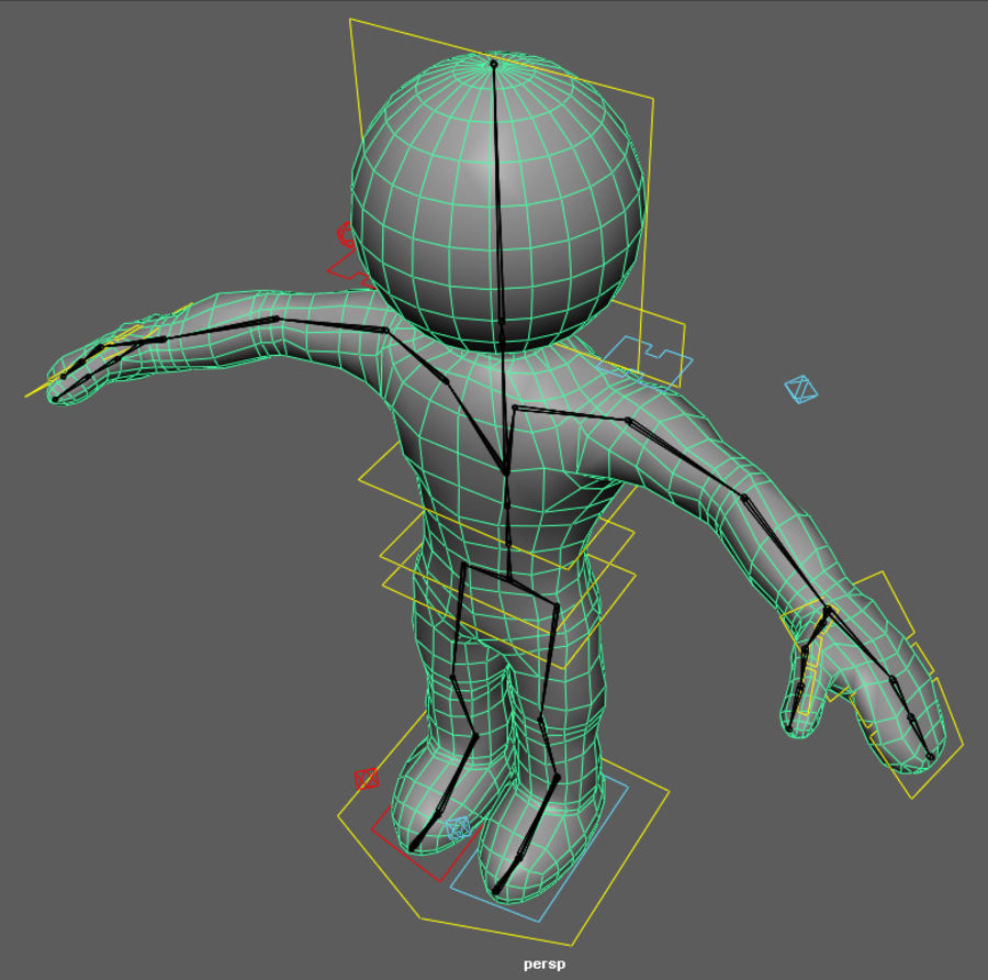 3D Simple Guy royalty-free 3d model - Preview no. 8