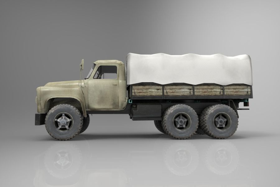 Truck Cargo royalty-free 3d model - Preview no. 4