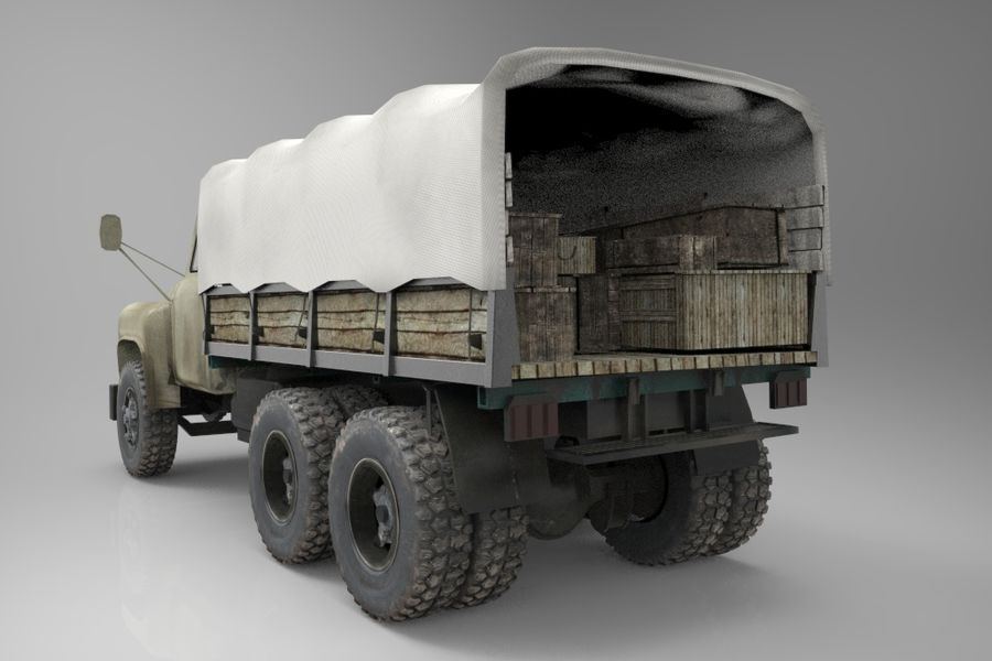 Truck Cargo royalty-free 3d model - Preview no. 1