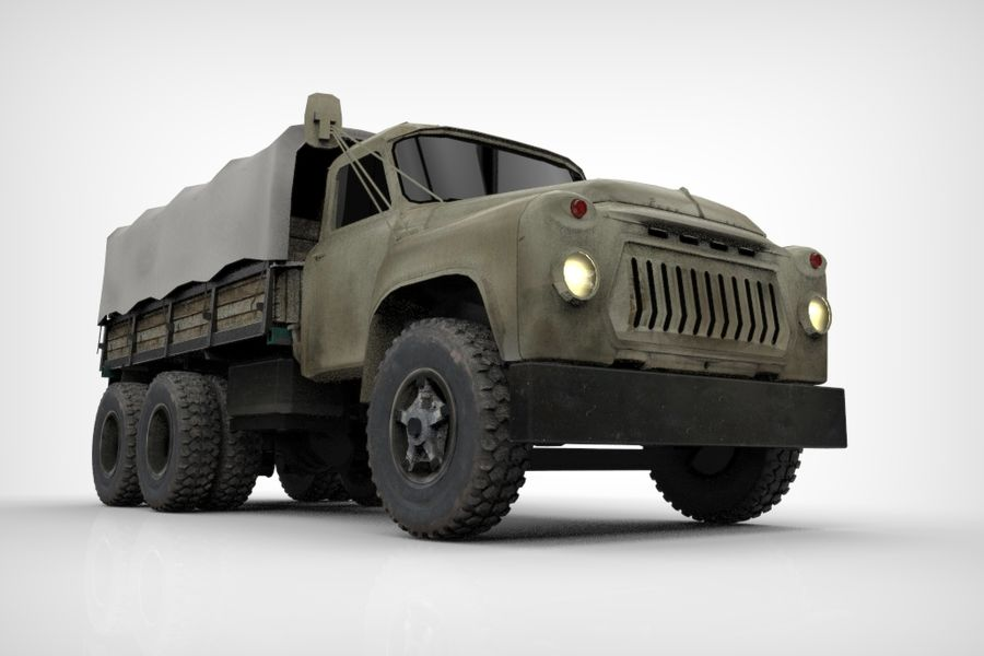 Truck Cargo royalty-free 3d model - Preview no. 3