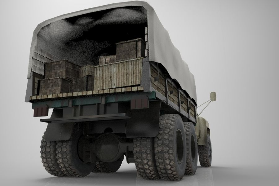 Truck Cargo royalty-free 3d model - Preview no. 2