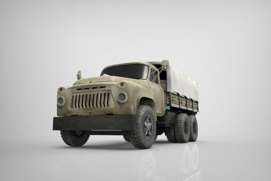 Truck Cargo royalty-free 3d model - Preview no. 5