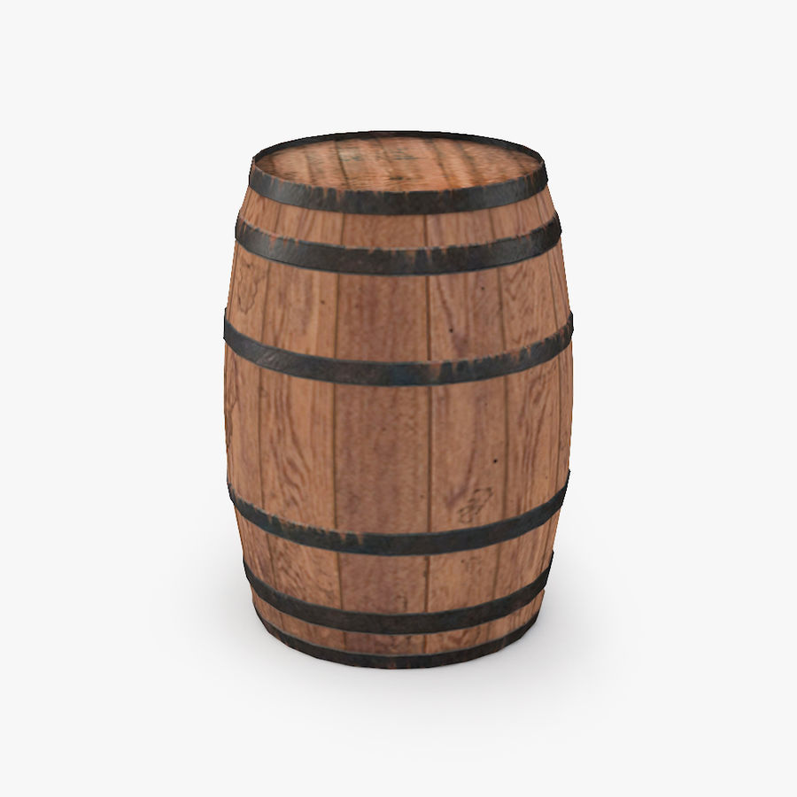 Wooden Cask 01 royalty-free 3d model - Preview no. 1