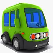Cartoon Minibus 3 3d model