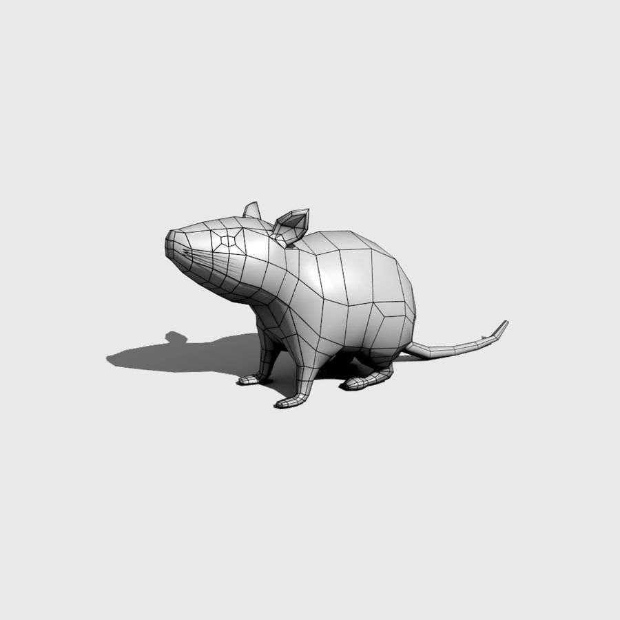 Rat royalty-free 3d model - Preview no. 2