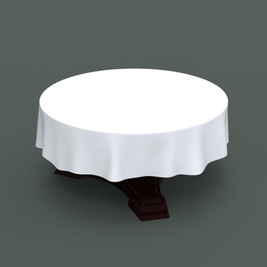 宴会桌 royalty-free 3d model - Preview no. 2