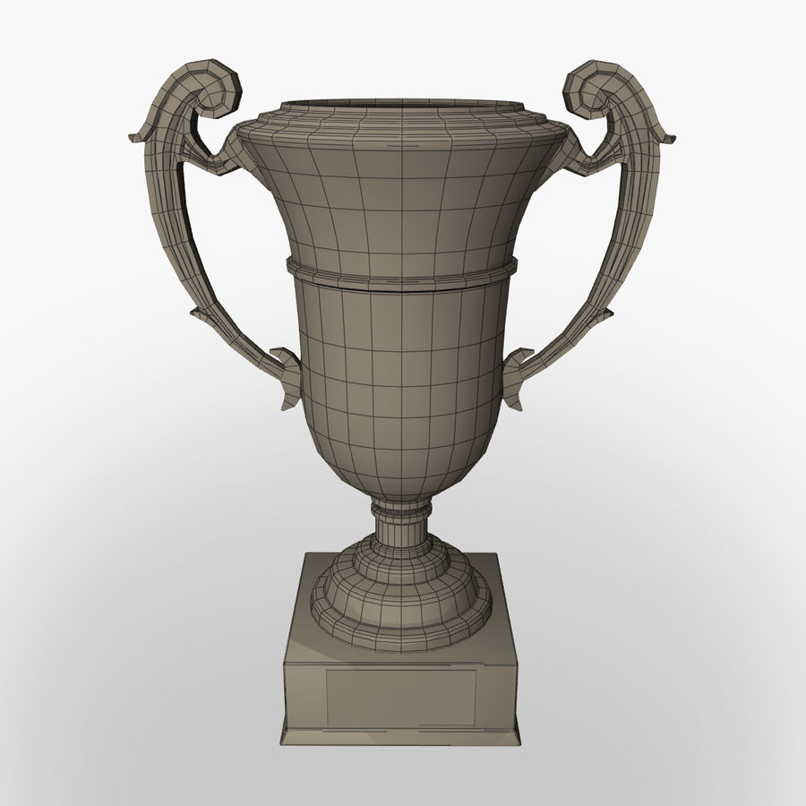 Prize cup royalty-free 3d model - Preview no. 6