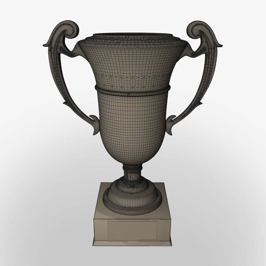 Prize cup royalty-free 3d model - Preview no. 7
