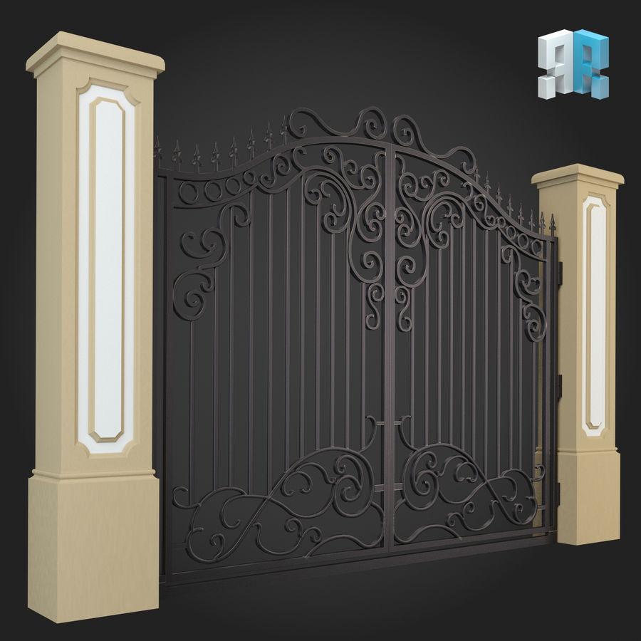 Gate 012 royalty-free 3d model - Preview no. 3