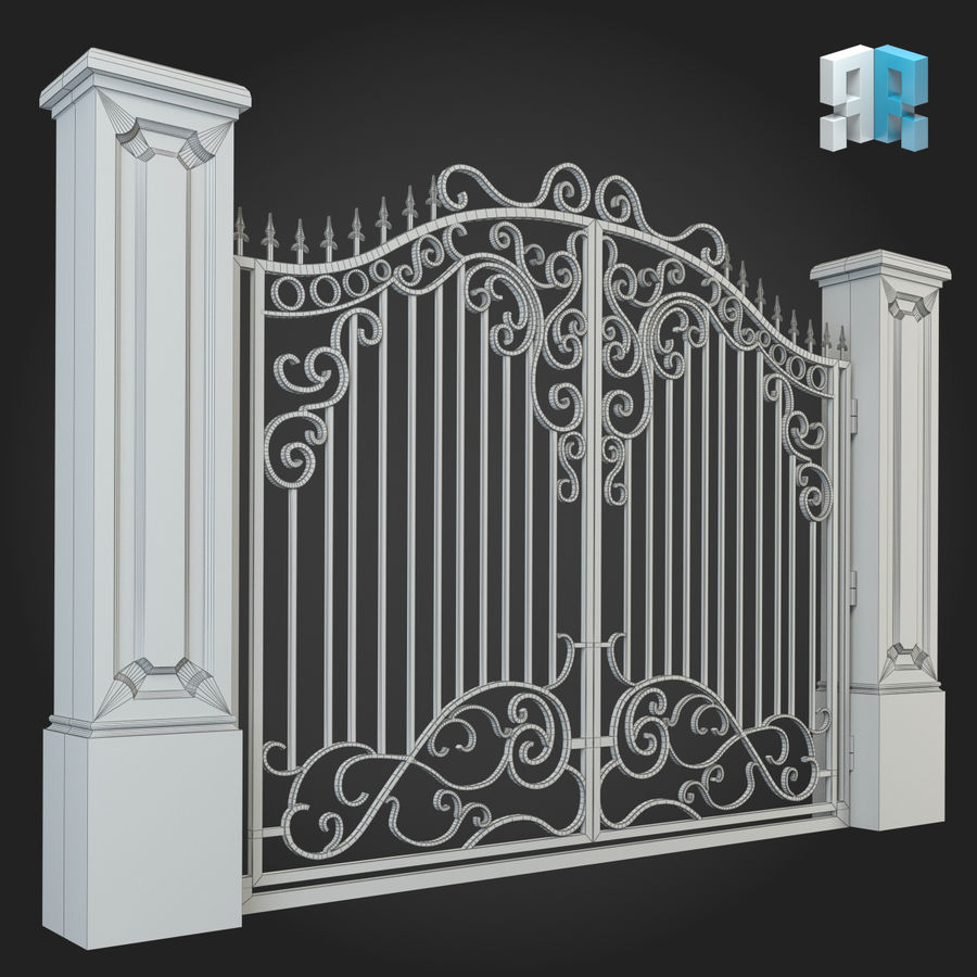 Gate 012 royalty-free 3d model - Preview no. 4