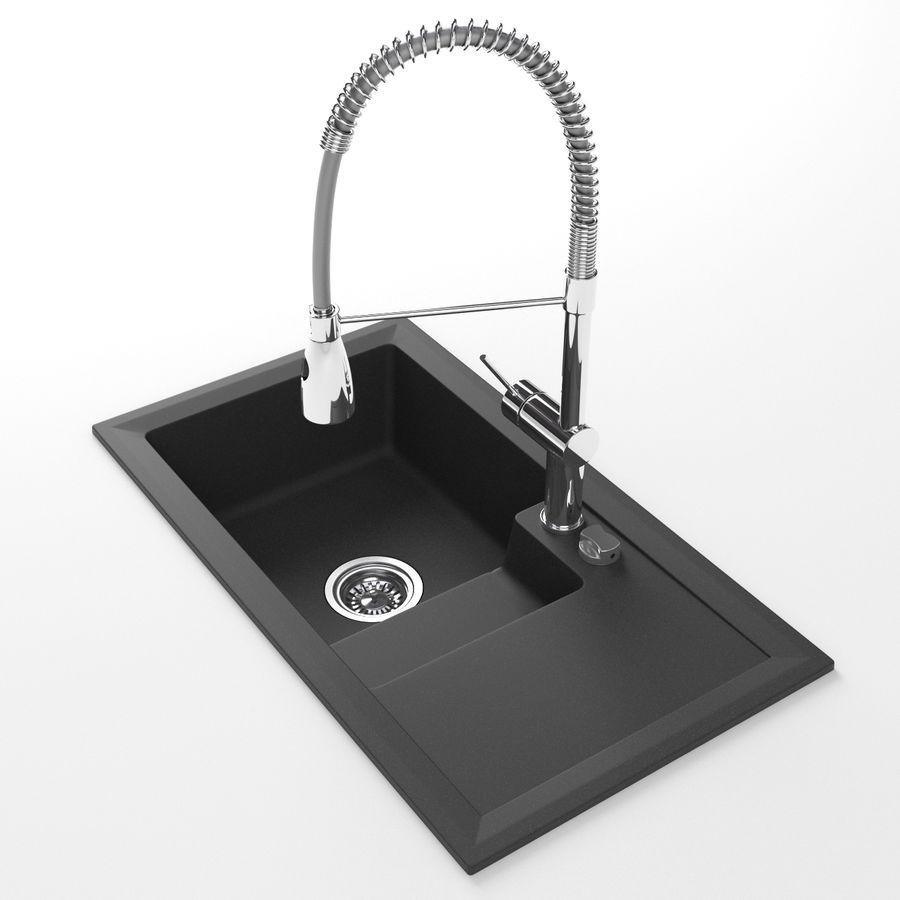 Puerto Modern Kitchen sink with spring faucet 3D Model $19 - .obj ...